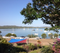 shoreline view of Cooktown from Seaview Motel