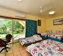 Lodge six single beds