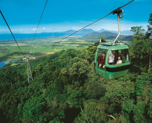 Skyrail Rainforest Cableway from Cairns to Kuranda