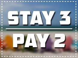 SPECIAL: Stay 3 Pay 2!