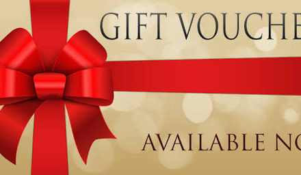 CHRISTMAS VOUCHERS NOW AVAILABLE